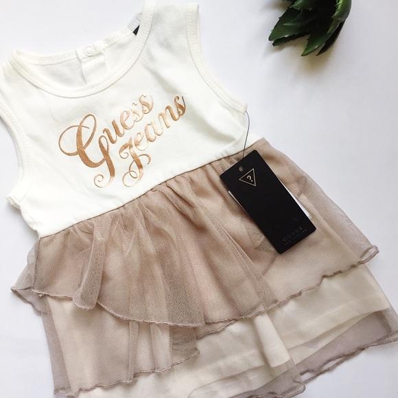a6e9d2a17 Guess Dresses | Baby Girl Ruffle Dress | Poshmark